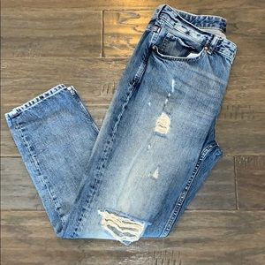 H&M Distressed Boyfriend Low Waist Jeans Sz/29